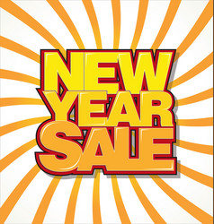 new year sale background vector image