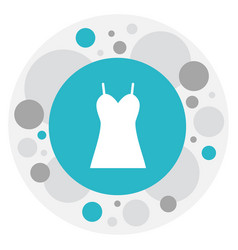 Of trade symbol on dress icon vector