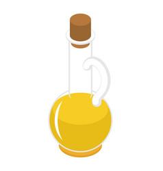 Olive oil bottle isometry isolated on white vector
