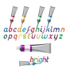 paint tubes font vector image
