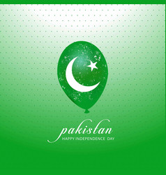 Pakistans flag balloon for independence day on vector