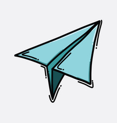 paper jet color icon drawing sketch hand drawn vector image