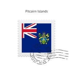 Pitcairn Islands Flag Postage Stamp vector