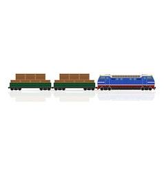 Railway train 13 vector
