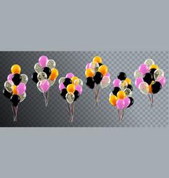 realistic celebration balloons helium birthday vector image