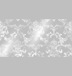 rococo pattern texture floral ornament vector image