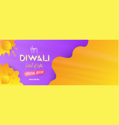 Sale banner diwali festival of lights with special vector