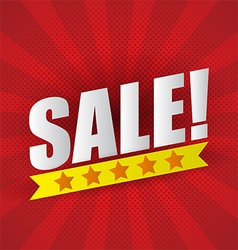 Sale poster background with five star vector image