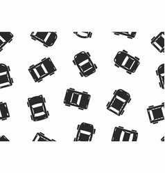 seamless black car pattern vector image
