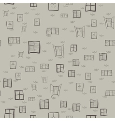 Seamless pattern of childrens drawings of windows vector