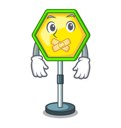 Silent traffic sign isolated on the mascot vector