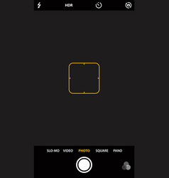 smartphone camera viewfinder template focusing vector image