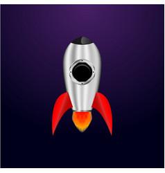 space rocket creative idea rocket background vector image