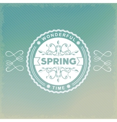 Spring old-fashion label vector image