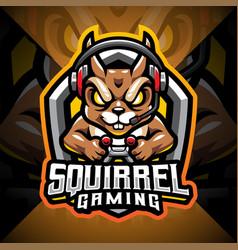 Squirrel gaming esport mascot logo design vector