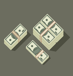stack of dollars vector image