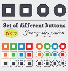 stop button icon sign Big set of colorful diverse vector image