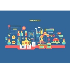 Strategy design flat concept vector