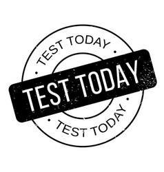 test today rubber stamp vector image