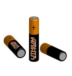 Three batteries vector