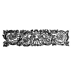 vintage drawing or engraving antique floral vector image