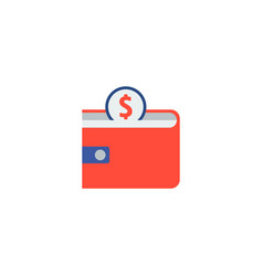 wallet icon flat element of vector image