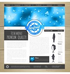 Watercolor Seafood concept design vector image