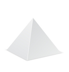 White pyramid mockup 3d template vector