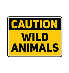 Wild animals sign vector