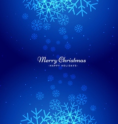 winter christmas snowflakes background vector image