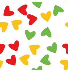 design of love hearts on white background vector image