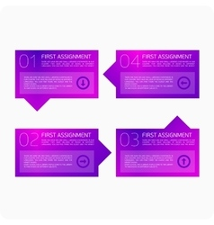 Infographics four steps vector image vector image