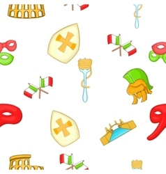 Italy pattern cartoon style vector image vector image