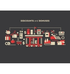 Discounts and bonuses vector image vector image
