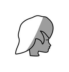 female face profile character vector image