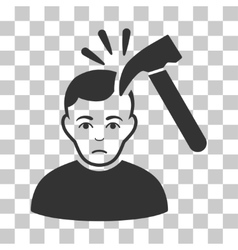 Murder with hammer icon vector