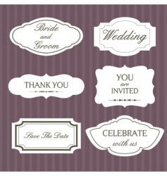 wedding lablels vector image vector image