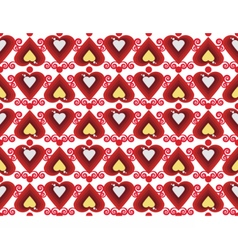 Abstract pattern with hearts vector image vector image