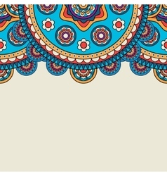 Bright boho floral upper border vector image