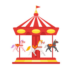 carousel icon for web vector image vector image