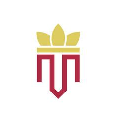 crown letter m logo vector image