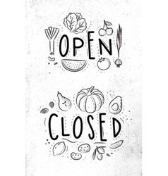 Eco signboard open close vector image