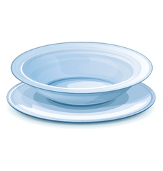 Empty dinner plate with stand vector image