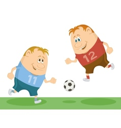 Football players playing soccer vector image vector image