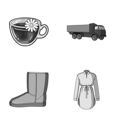 transport shoes and other monochrome icon in vector image vector image
