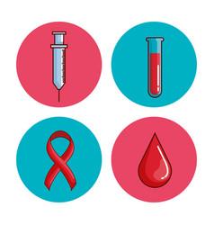 world hemophilia day set icons vector image