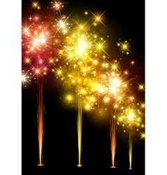 Festive colourful firework background vector image vector image
