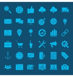SEO Glyphs Web Icons vector image