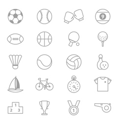 Sport Icons Line Set Of copy vector image vector image
