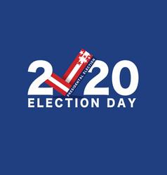 2020 presidential election vote typography vector